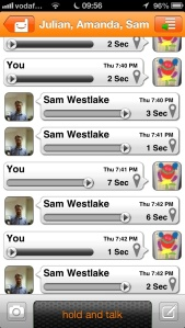 Voxer chat
