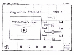 MCC - diagnostic exercise wireframe