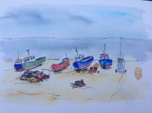 Painting of boats