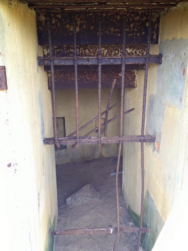 Doorway to bunker in Jersey