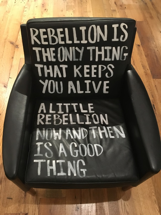 A little bit of rebellion