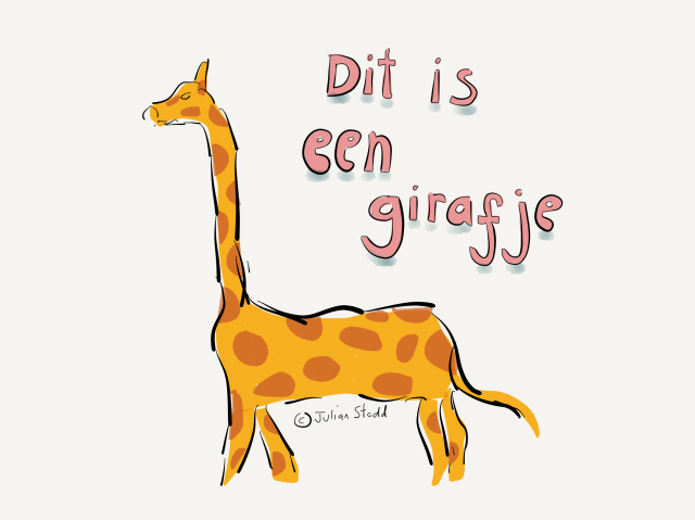 Dit is een girafje