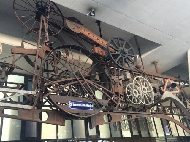 Deconstructed steam train, Lucerne