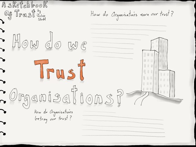 Trust Sketchbook - trust in organisations