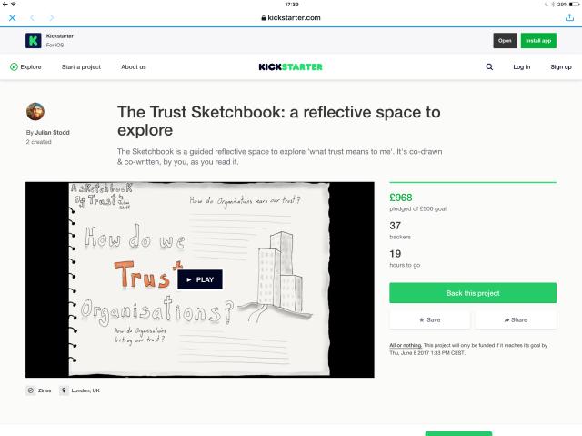 Kickstarting The Trust Sketchbook