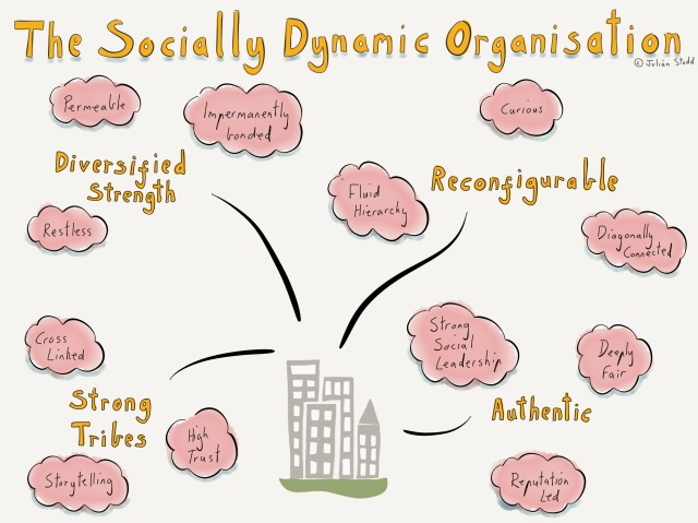 Four Aspects of the Socially Dynamic Organisation