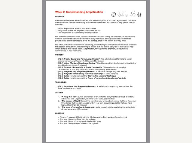 Storytelling Certification week 2